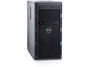 Dell PowerEdge T130 Tower Server Intel Xeon E3-1220 v5, Optional Operating System, 8GB Memory, 1TB Hard Drive