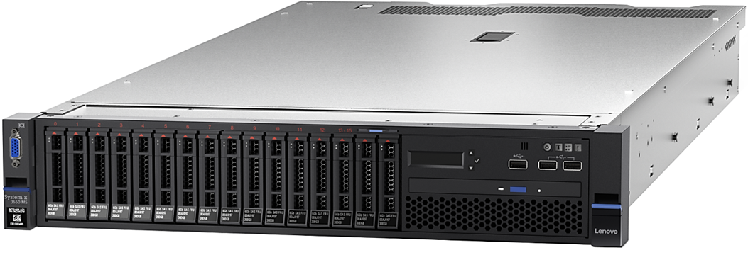 Lenovo 8871C4x System x3650 M5 (E5-2600 v4) Intel Xeon 	1x E5-2620 v4 8C 2.1GHz 20MB 2133MHz 85W